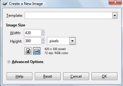 Image Resolution in Gimp