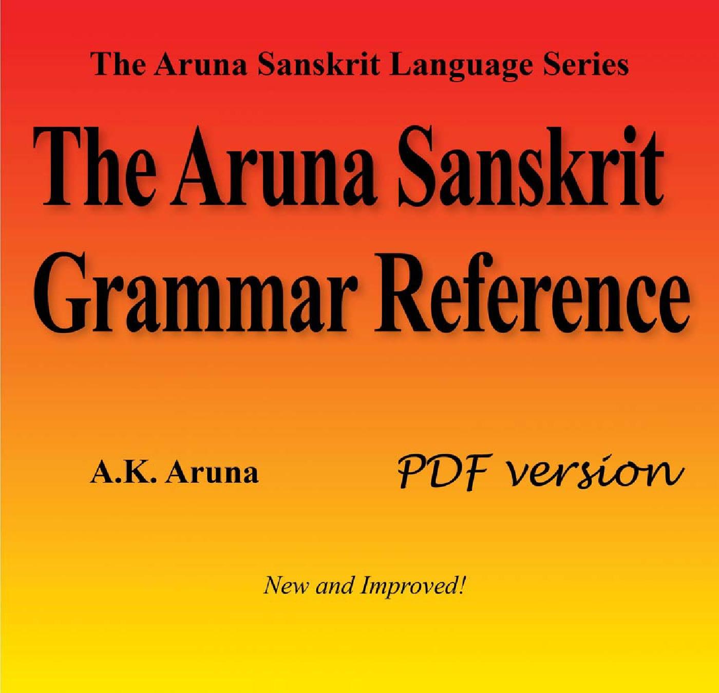The Aruna Sanskrit Grammar Reference, PDF (eBook) eBook