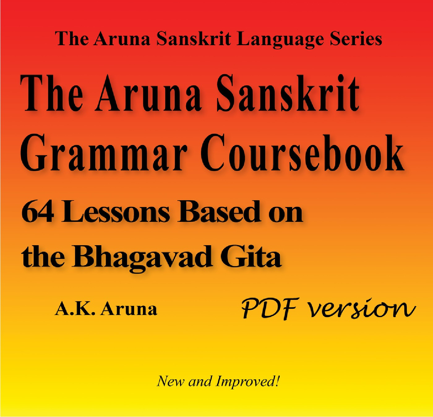 The Aruna Sanskrit Grammar Coursebook, PDF (eBook) eBook