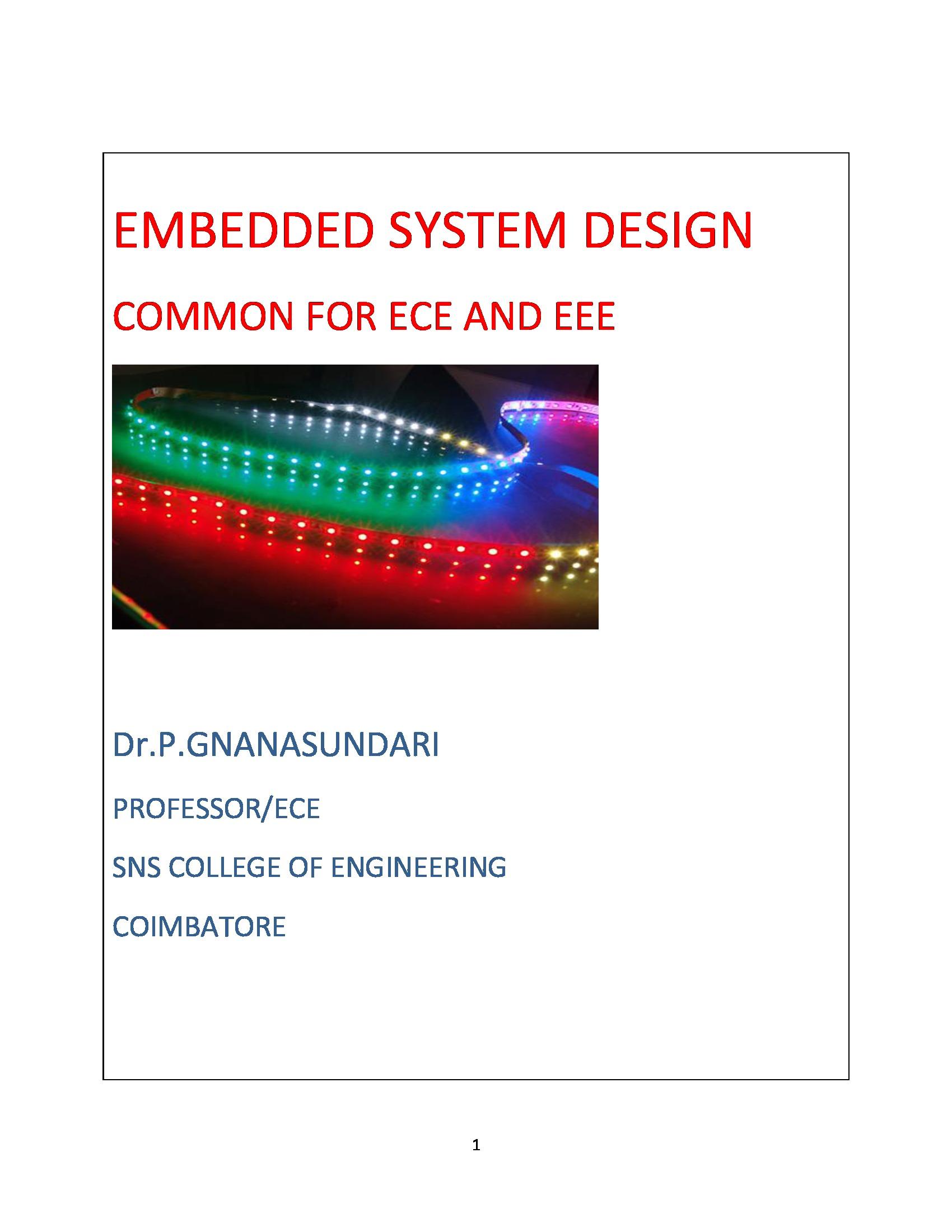 EMBEDDED SYSTEM DESIGN (eBook) eBook | Pothi com