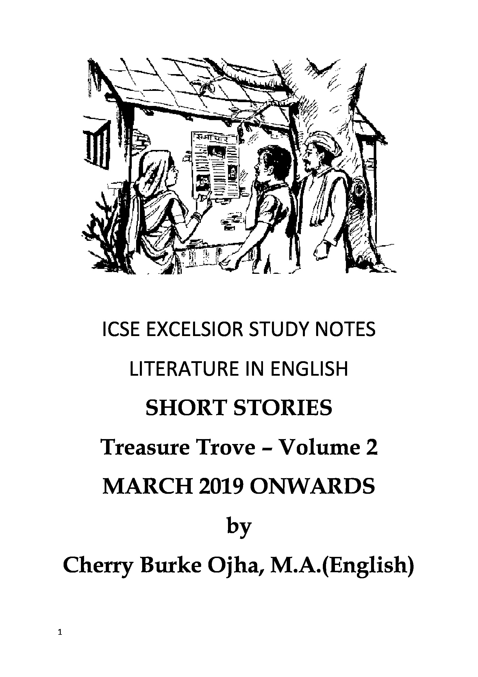 ICSE EXCELSIOR STUDY NOTES LITERATURE IN ENGLISH SHORT