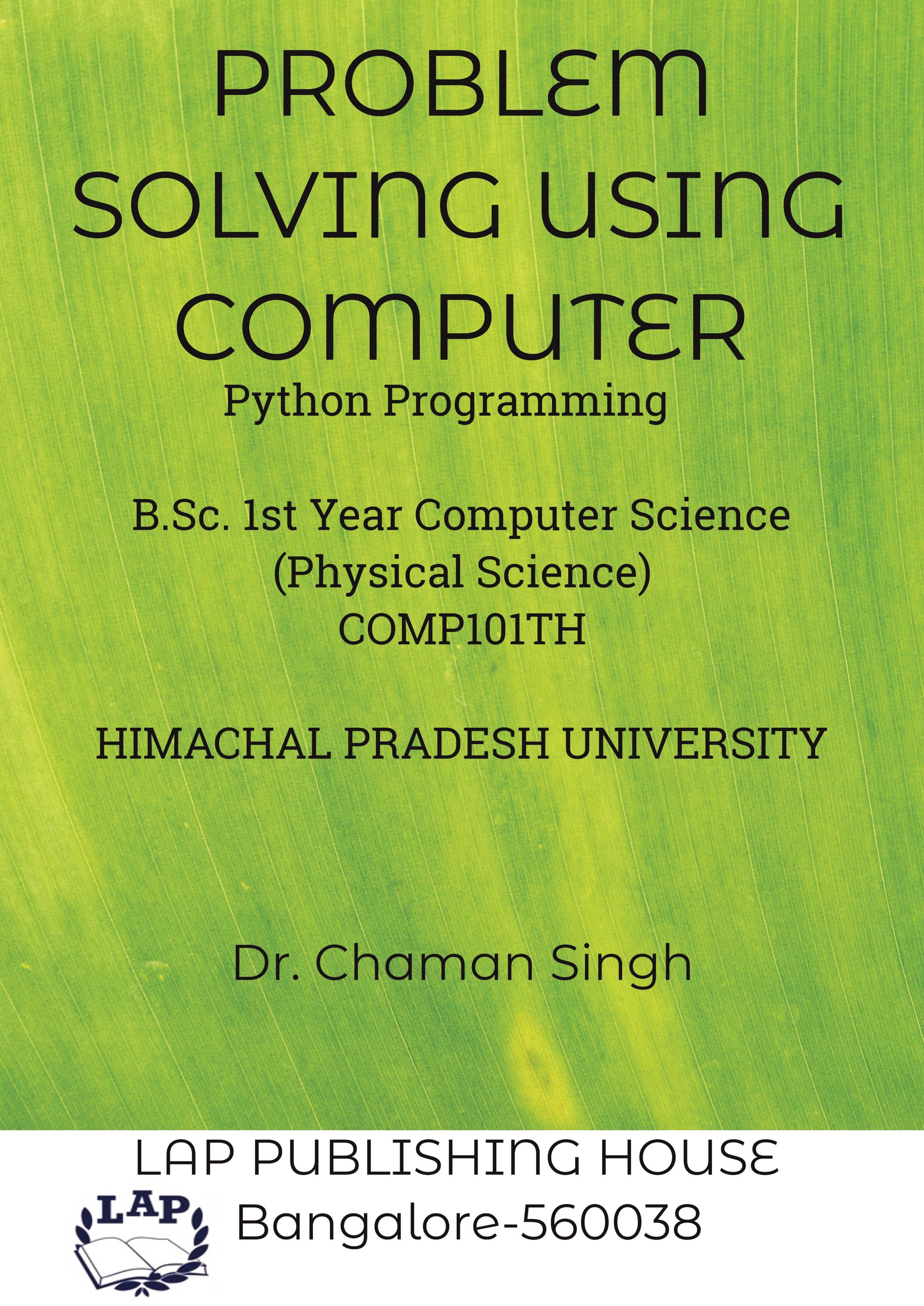 Problem Solving Using Computer | Pothi com