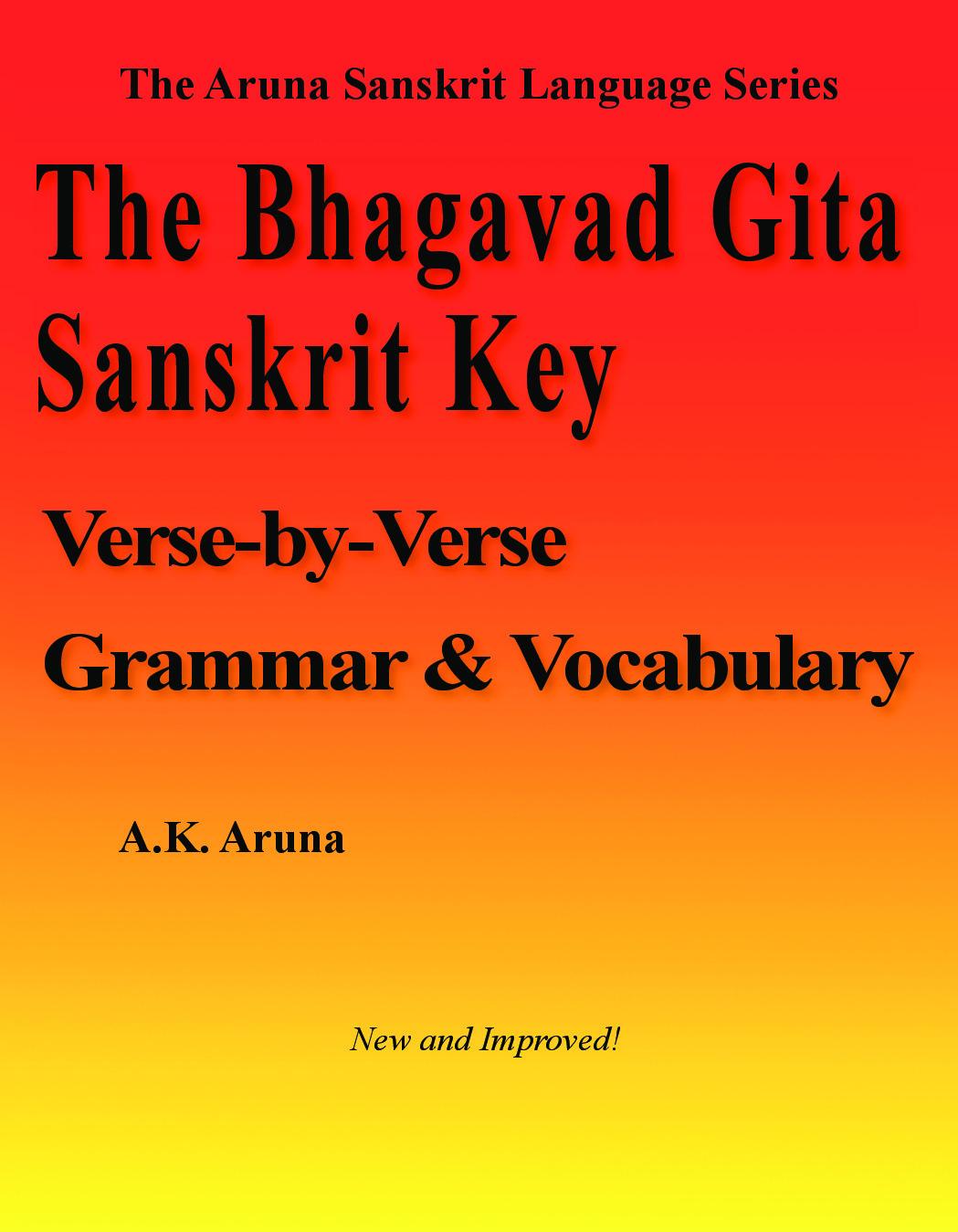 The Bhagavad Gita Sanskrit Key | Pothi com