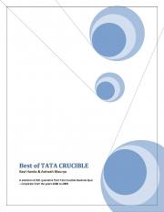 Best of Tata Crucible (eBook)