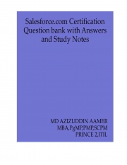 Salesforce.com Certification Question Bank with Answers and Study Notes (eBook)