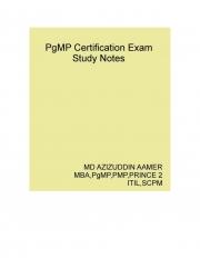 Program Management Professional ( PgMP ) Certification Exam Study Notes (eBook)