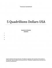 5 Quadrillions Dollars USA (eBook)