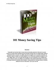 100 Money saving tips (eBook)