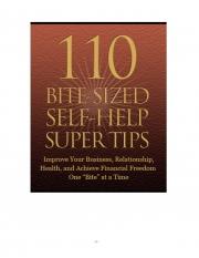 110 BITE-SIZED SELF-HELP SUPER TIPS  (eBook)