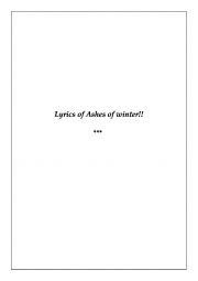 Ashes of Winter (eBook)