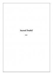 The Sacred Truth (eBook)