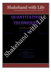 Quantitative Techniques 100  MCQ (eBook)