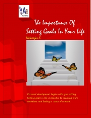 The Importance Of Setting Goals In Your Life (eBook)