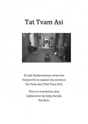 Tat Tvam Asi - Vakya Vrtti (eBook)