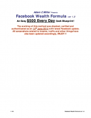 500$s a day from facebook guranteed! (eBook)