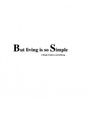 BUT LIVING IS SO SIMPLE (eBook)
