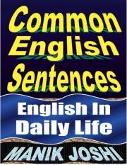 Common English Sentences (eBook)