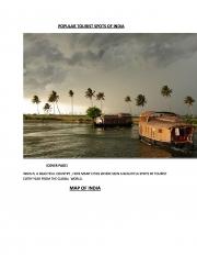 POPULAR TOURIST SPOTS OF INDIA (eBook)