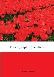 Dream,explore,be alive.