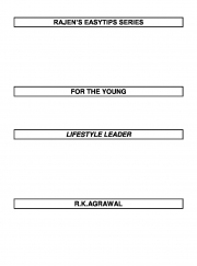 RAJEN'S EASYTIPS FOR THE YOUNG LIFESTYLE LEADER  (eBook)