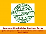 Inspire To Reach Higher: Customer Service (eBook)
