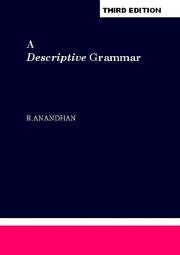 A Descriptive Grammar