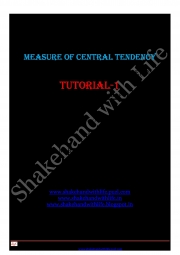 Measure of Central Tendency(Mean,  Median and Mode) (eBook)