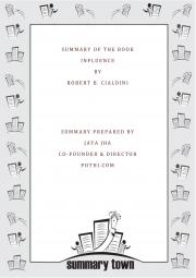 Summary of Influence (eBook)
