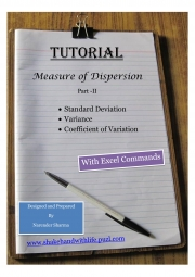 Standard Deviation, Variance, Coefficient of Variation (eBook)