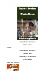 Greatest Bowlers: Wasim Akram (eBook)