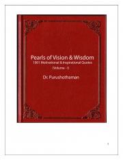 Pearls of Wisdom (Volume I) (eBook)
