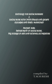 Sociology for social workers and social work individual and group