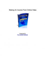 Making An Income From Online Video (eBook)