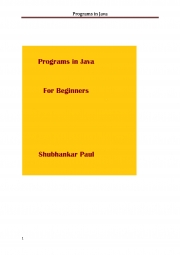 Programs in Java (eBook)