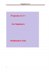 Programs in C++ (eBook)
