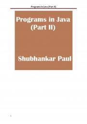 Programs in Java (Part II) (eBook)