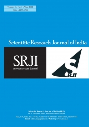 Scientific Researh Journal of India Vol 1 Issue 1