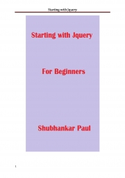 Starting with Jquery (eBook)
