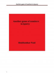 Another game of numbers in Jquery (eBook)