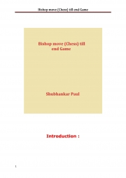 Bishop move (Chess) till end Game (eBook)