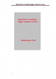Algorithm to multiply bigger numbers in Java (eBook)