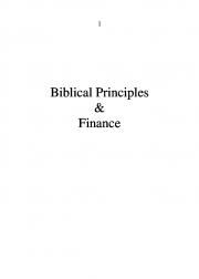 Biblical Principles & Finance (eBook)