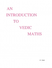 An introduction to Vedic Mathematics (eBook)