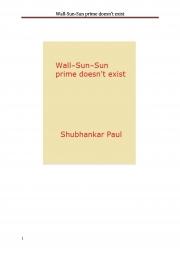 Wall-Sun-Sun prime doesn't exist (eBook)