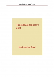 Taxicab(5,2,2) doesn't exist (eBook)