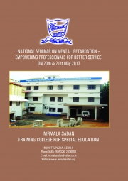 PROCEEDINGS OF NATIONAL SEMINAR ON  MENTAL RETARDATION