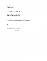INDIAN DEMOCRACY- UNDERMINED (eBook)