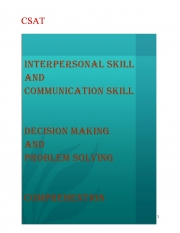 CSAT (HINDI) 3 Topic  interpersonal skills including communication skills , decision making and problem solving , comprehension By NItin Gupta (eBook)