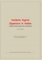 Validate Digital Signature in Adobe - Colour Paper Book