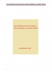 Two theorems and some tips to solve problems on number theory (eBook)